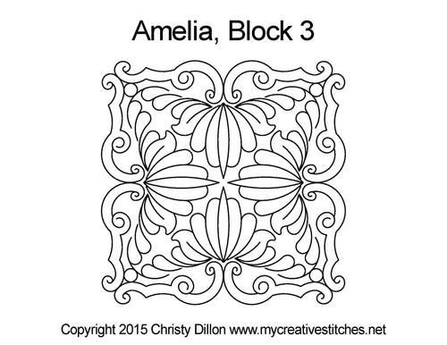 Amelia block quilt pattern