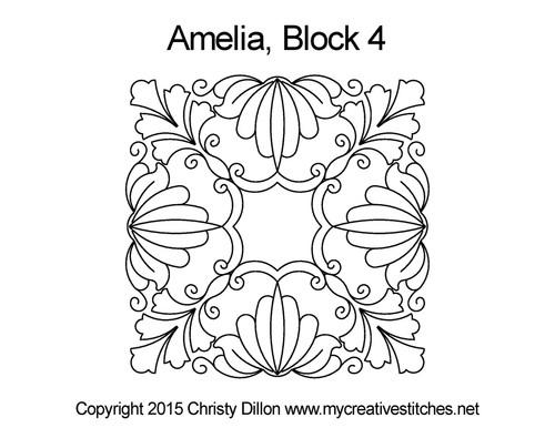 Amelia square block quilt pattern