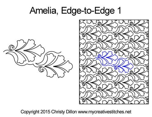 Amelia edge to edge 1 digital quilting patterns
