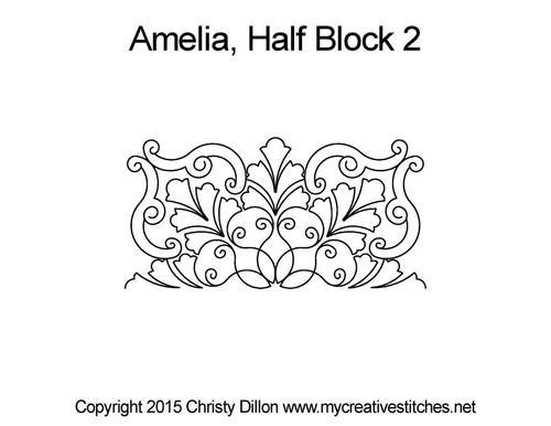 Amelia half block quilt design