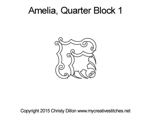 Amelia quarter block 1 quilt pattern