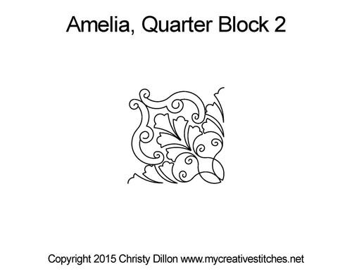 Amelia quarter block 2 quilt pattern