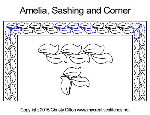 Amelia sashing & corner quilt design