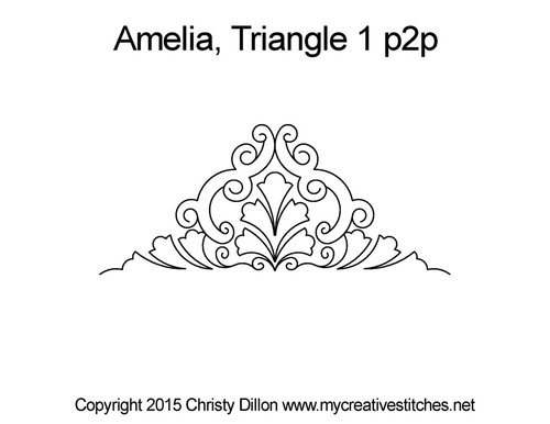 Amelia triangle quilt pattern