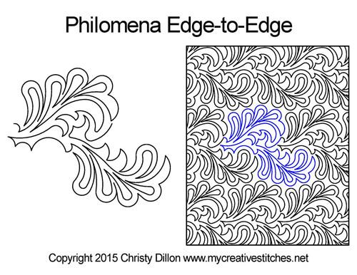 Philomena edge to edge digital quilting patterns
