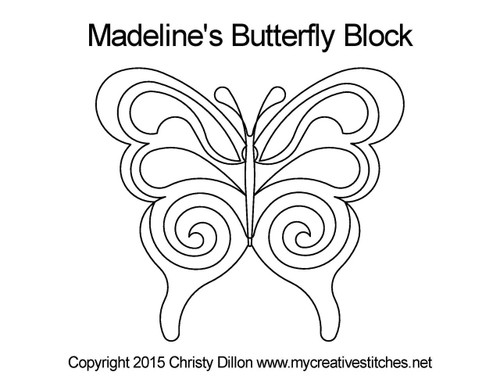 Madeline's butterfly quilting patterns for block