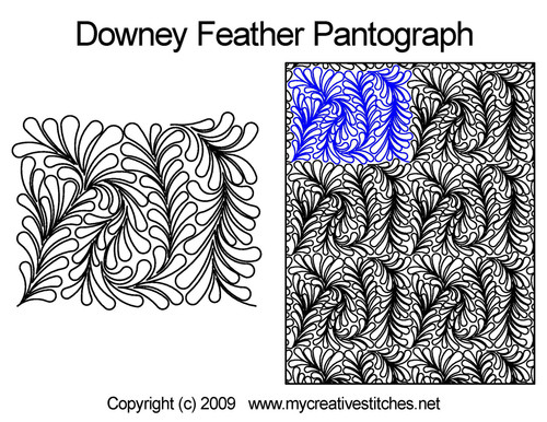 Downey feather long arm quilting pantographs