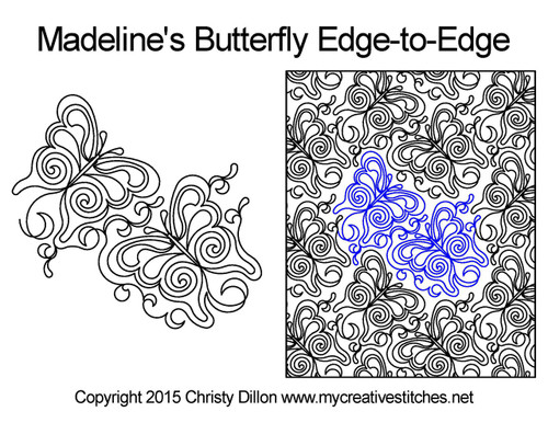 Madeline's butterfly edge-to-edge pattern