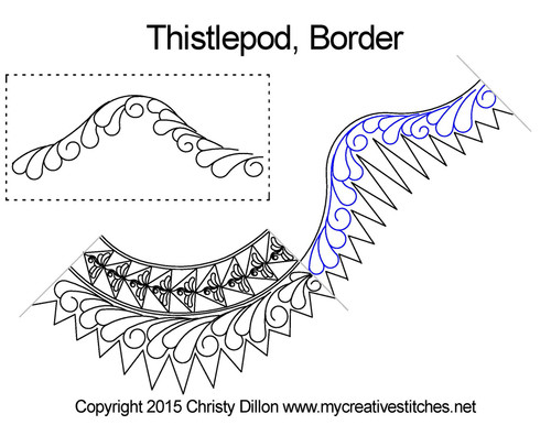 Thistlepod border quilting ideas