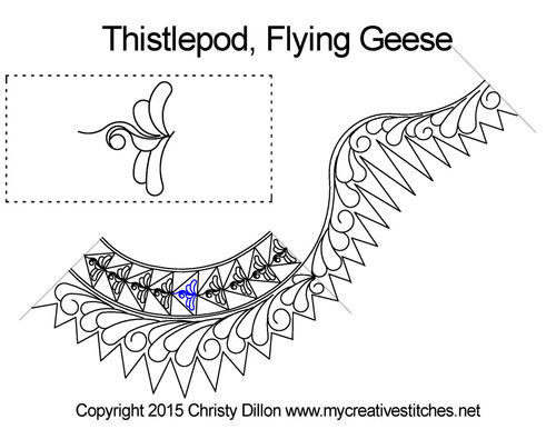 Thistlepod flying geese quilting ideas