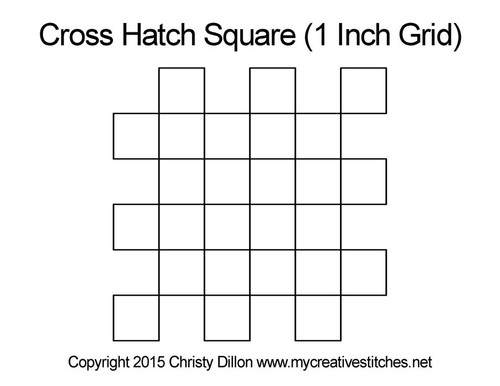 Cross hatch square quilting design