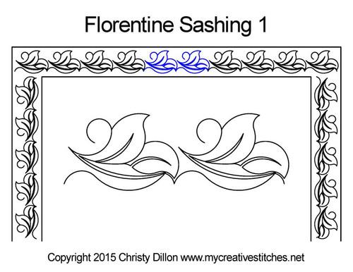 Florentine sashing 1 quilt pattern