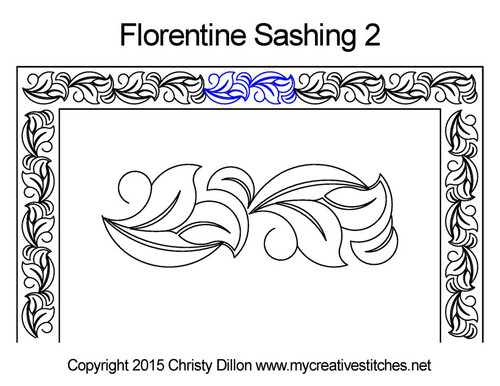 Florentine sashing 2 quilt pattern