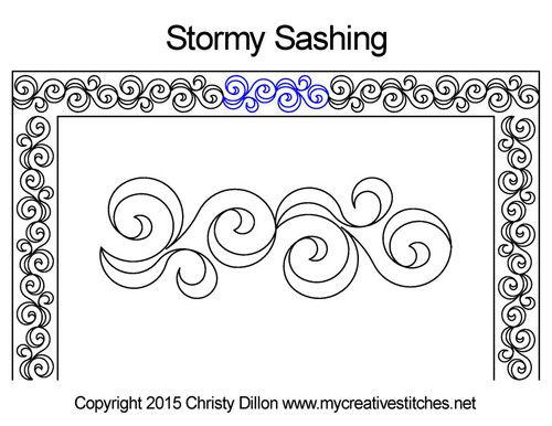 Stormy sashing quilting pattern