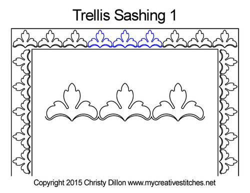Trellis computerized sashing 1 quilting