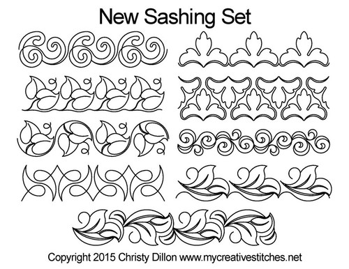 New computerized sashing quilting designs