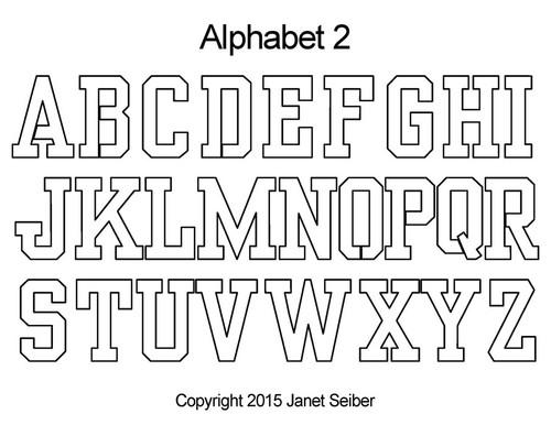 Digital alphabet 2 quilting design
