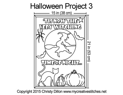 Halloween 3 free quilting projects