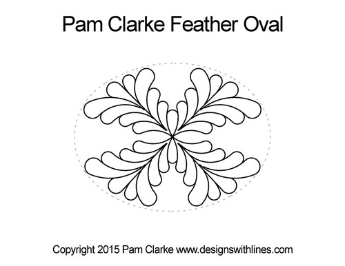 Pam clarke feather oval digital quilt pattern