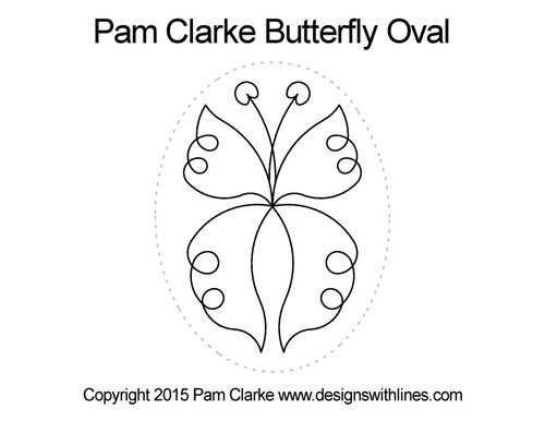 Pam clarke butterfly oval quilting design