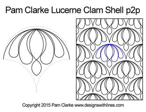 Pam clarke lucerne clam shell p2p quilt ideas