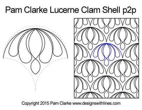 Pam clarke lucerne clam shell p2p quilt ideas