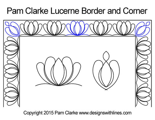 Pam clarke lucerne border & corner quilt design