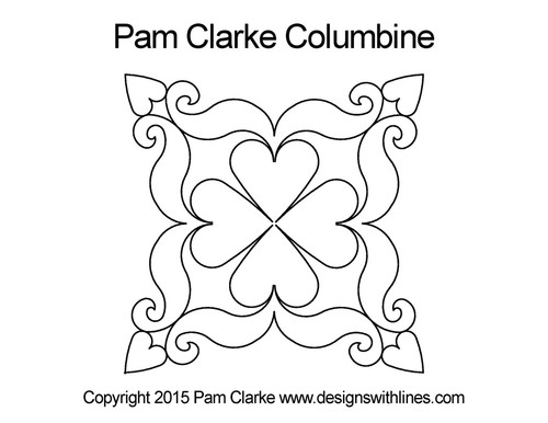 Pam clarke columbine digital quilt design