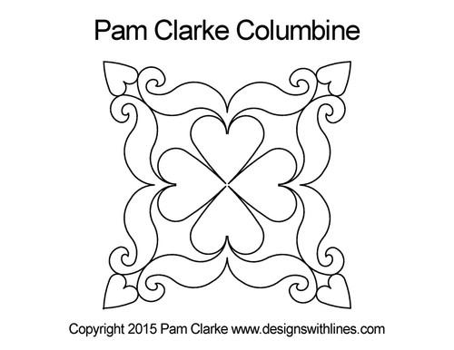Pam clarke columbine digital quilt design