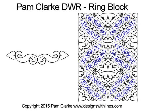 Pam Clarke Double Wedding Ring, Ring Block