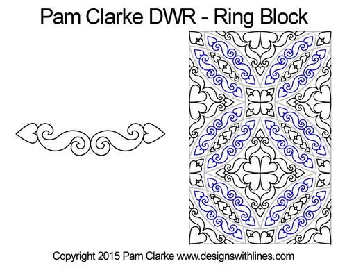 Pam clarke DWR ring block quilt pattern