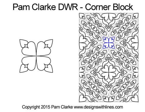 Pam clarke DWR corner block quilt pattern