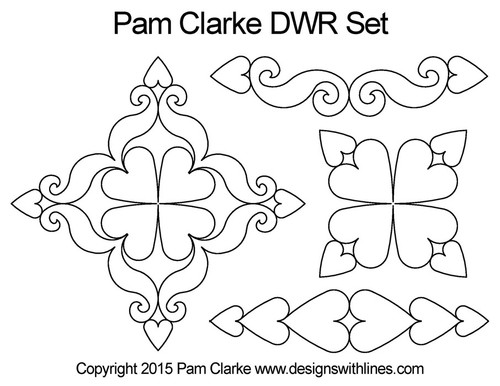 Pam clarke DWR digital quilt pattern set