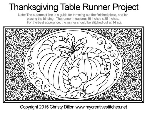 Thanksgiving Table Runner Free Project