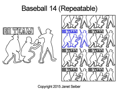 Baseball 14 digital quilt design