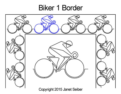 Biker computerized border 1 quilting designs