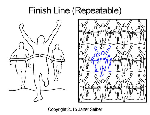 Finish line repeatable digital quilt pattern