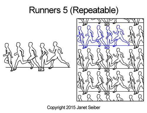 Runners 5 repeatable quilting designs