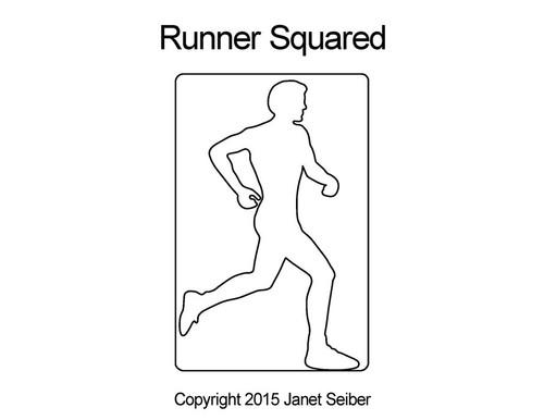 Runner squared digital quilting pattern