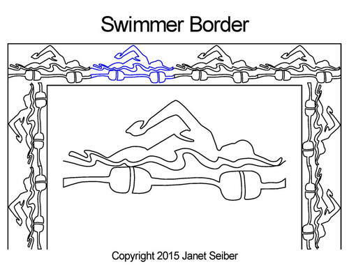 Swimmer border quilting patterns