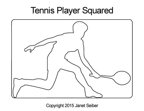 Tennis player squared quilting designs