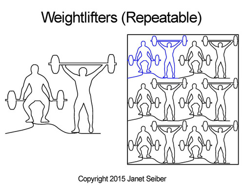 Weightlifters repeatable quilting pattern