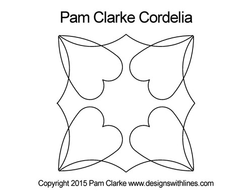 Pam clarke cordelia computerized quilt design