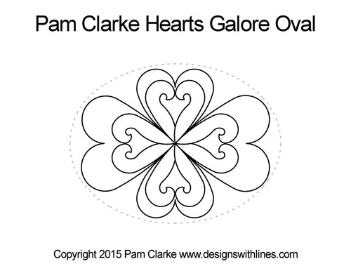 Pam clarke hearts galore oval quilt pattern