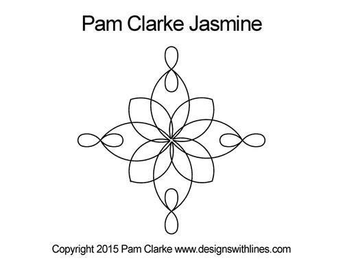 Pam clarke jasmine quilt design