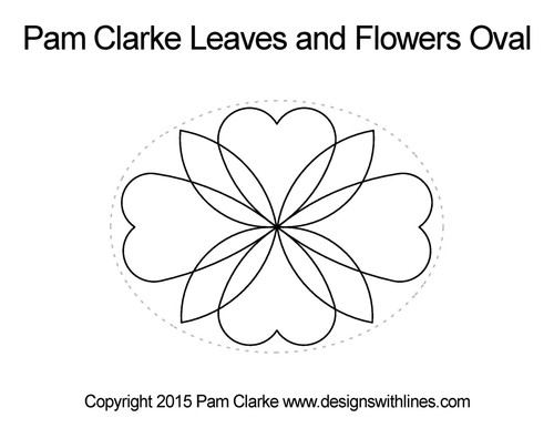 Pam clarke leaves & flowers oval quilt pattern