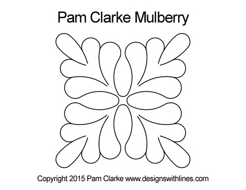 Pam clarke mulberry digital quilt pattern