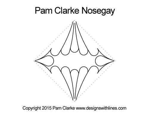 Pam clarke nosegay digitized quilting