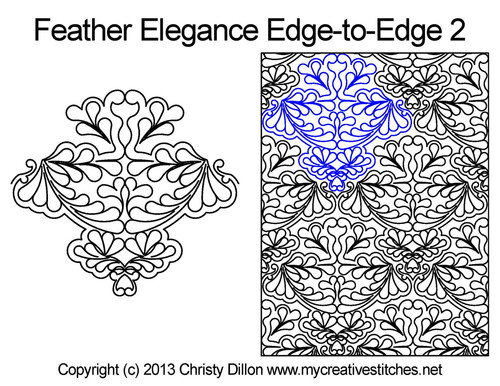 Feather elegance edge to edge 2 designs