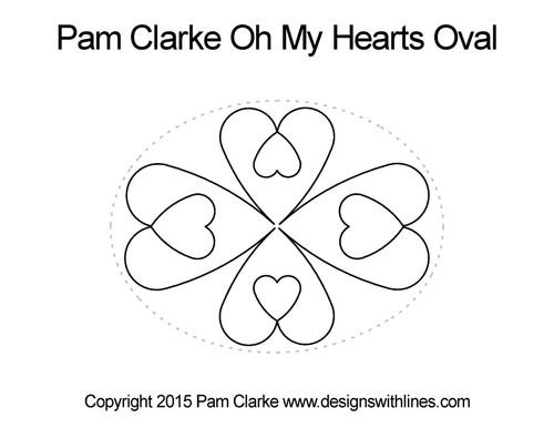 Pam Clarke Oh My Hearts Oval